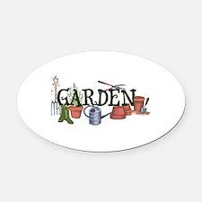 Garden Oval Car Magnet