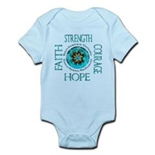 CRPS RSD Faith Courage Strength Hope Bla Body Suit