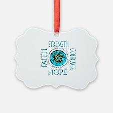 CRPS RSD Faith Courage Strength H Ornament