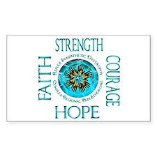 CRPS RSD Faith Courage Stre Decal