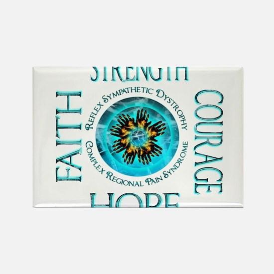 CRPS RSD Faith Courage Strength Hope Blazi Magnets