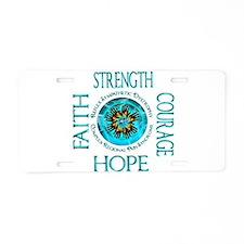 CRPS RSD Faith Courage Stre Aluminum License Plate