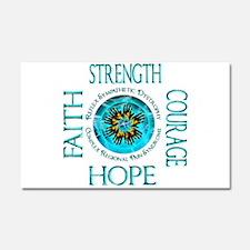 CRPS RSD Faith Courage Strength Car Magnet 20 x 12