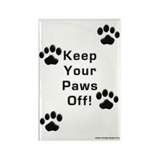 Keep Your Paws Off Rectangle Magnet