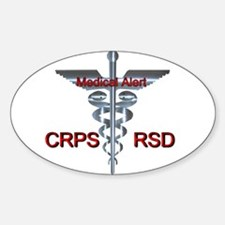CRPS / RSD Medical Alert Asclepius Caduceu Decal