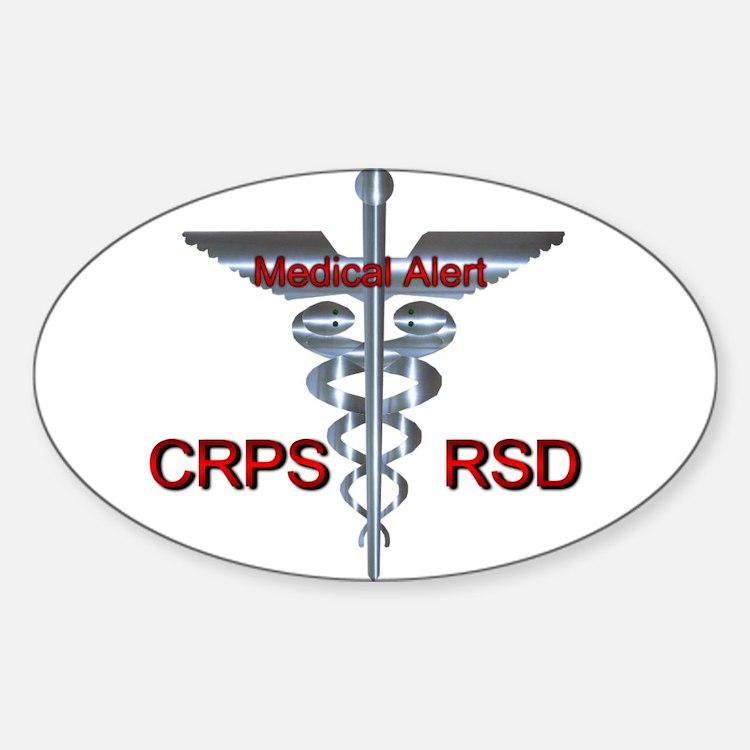 CRPS / RSD Medical Alert Asclepius Caduceu Decal