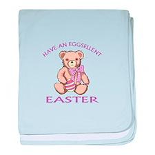 Eggsellent Easter baby blanket