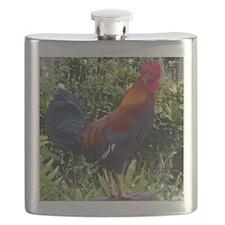Hawaiian Rooster Flask