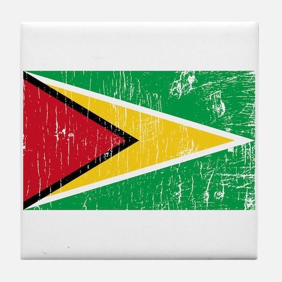 Vintage Guyana Tile Coaster