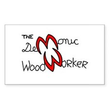 The Demonic Woodworker Logo - Decal
