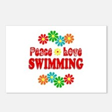 Peace Love Swimming Postcards (Package of 8)