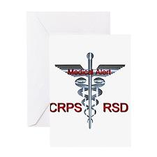 CRPS / RSD Medical Alert Asclepius Greeting Cards