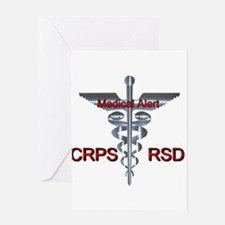 CRPS / RSD Medical Alert Asclepius Greeting Cards