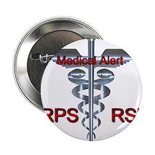 "CRPS / RSD Medical Alert Asclepius Ca 2.25"" Button"