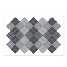 Grey Argyle Postcards (Package of 8)
