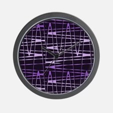 Purple Black Splatter Gem 32 Wall Clock