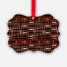 Brown Black Abstract Splatter Ar Ornament