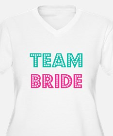 Team Bride Women's V-Neck Plus Size T-Shirt