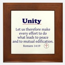 Unity Series-Romans 14:19 Framed Tile