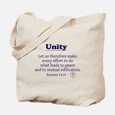 Unity Series-Romans 14:19 Tote Bag