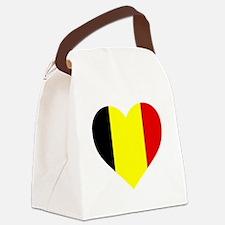 Belgium Heart Canvas Lunch Bag