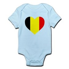 Belgium Heart Body Suit