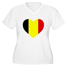 Belgium Heart Plus Size T-Shirt
