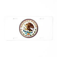 Mexican Pride Aluminum License Plate