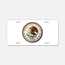 Mexican Pride Aluminum License Plate