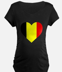 Belgium Heart Maternity T-Shirt