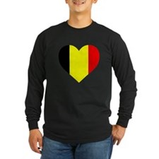 Belgium Heart Long Sleeve T-Shirt