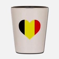 Belgium Heart Shot Glass