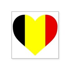 Belgium Heart Sticker