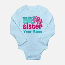 Big Sister Teal Pink Personalized Body Suit