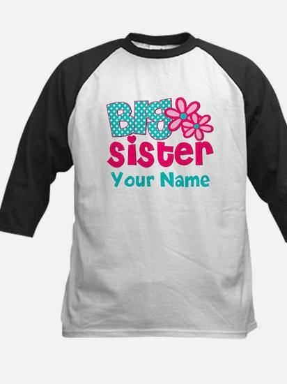 Big Sister Teal Pink Personalized Baseball Jersey
