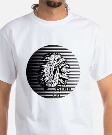 Rise Up - Be A Warrior White T-Shirt