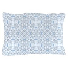Placid Blue & White Lace 2 Pillow Case