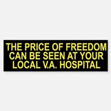 Thank a Veteran! - Price of Freedom Bumper Bumper Bumper Sticker