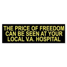 Thank a Veteran! - Price of Freedom Bumper Bumper Sticker