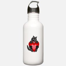 Howlentine's Day Water Bottle