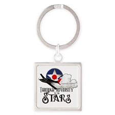Red Tails Square Keychain