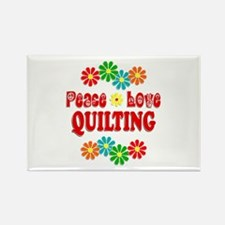 Peace Love Quilting Rectangle Magnet