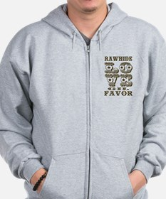 Brown Rawhide Love Gil Favor Zip Hoodie