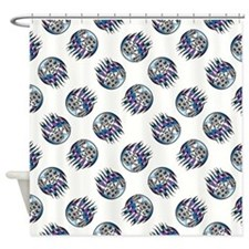 DICE WITH FLAMES Shower Curtain
