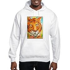Colorful tiger, wildlife art Hoodie