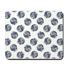 DICE WITH FLAMES Mousepad