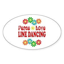Peace Love Line Dancing Decal