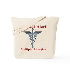 Multiple Allergies Medical Alert Asclepiu Tote Bag