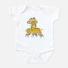Giraffes In Love Infant Bodysuit