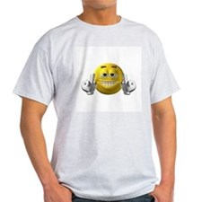 Rude Emoticon Finger T-Shirt
